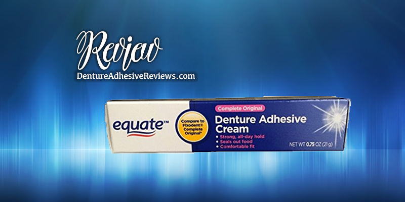 Equate Denture Adhesive Cream